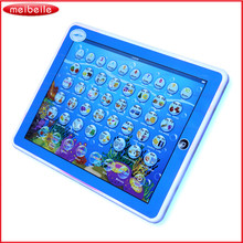 Hot sale Kids Learning English Tablet Teach LED Pad Educational Toy Table For Girl / Boy brinquedo educativo Funny juguetes(China)