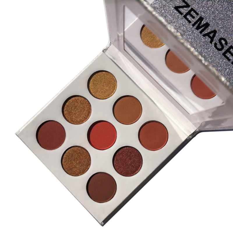 9Colors Eye Shadow Palette Natural Shimmer Matte Eyeshadow Powder Brand Professional Eyes Makeup Pallete Maquiagem 9