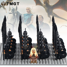 21pcs/lot WM1006 Game of Thrones Daenerys Targryen with Medieval Soliders Army Ice and Fire Bricks Building Blocks Children Toys