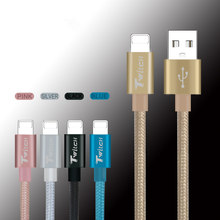 New Original Colorful 1M 2M Long Braided Flat Micro USB Data Sync Charging USB Cable For iPhone 7 6s 6 plus 5 5s ipad Air 1 2 3