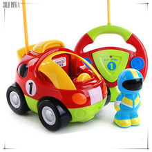 new Authentic children's cartoon remote control car race car hellokitty Doraemon baby toys Music Automotive Radio Control RC car(China)