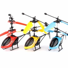 2CH 2 Channel Intelligent hand induction Infrared Helicopter Flying Toy Magically flies for Kid Remote Control Built-in Battery