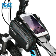 ROSWHEEL Bike Bag 4.7-6.0 inch Frame Top Tube Handlebar Bicycle Cycling Bag Pannier Updated Version Tank Bag with Phone Case
