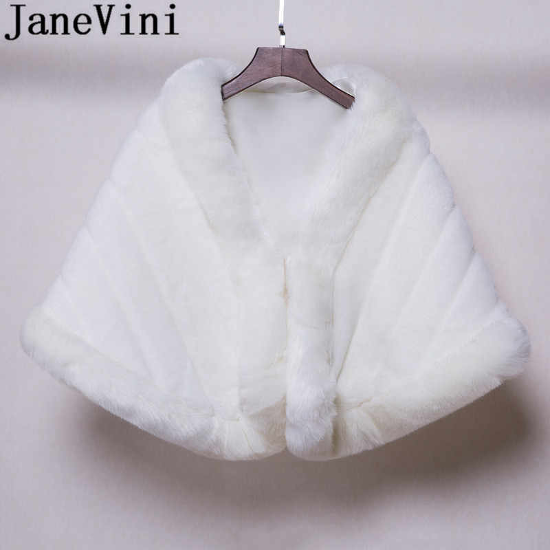 White Fur Stole >> Detail Feedback Questions About Janevini 2019 White Fur Stole Winter