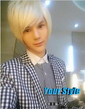 Cheap Synthetic Short Boy Pixie Cut Wigs Hairstyles Koreans Asian Male White Cosplay  Wig Natural Hair Perruque Peluca Hombre