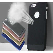Summer PC Back Cover with Cooling Network Hole For Iphone 6 6s 7 Plus Phone Shell Case Coque For iPhone 7 6 6S Plus Accessories