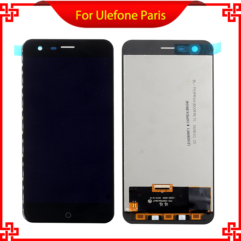 For Ulefone Paris LCD Display+Touch Screen Original Digitizer Glass Panel Assembly Ulefone paris 1280x720 HD 5.0inch Cell Phone<br><br>Aliexpress
