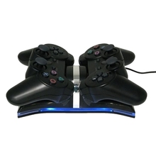 Good Quality Dock Station For PS3/PlayStation 3 Controller, USB Dual Charging Charger for Game Sticks & Gamepad