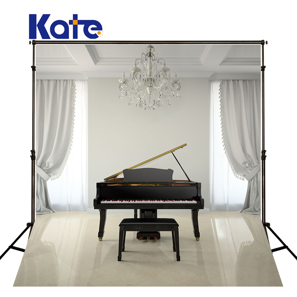 Kate White Photography Backdrops Black Piano White Curtain Indoor For Wedding Photo Studio Background<br>