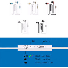 New Metal Hot Sale 3.5mm Headsets Earphones Headphone Super Bass Stereo Earbuds with Mic for mobile phone MP3 MP4 M300