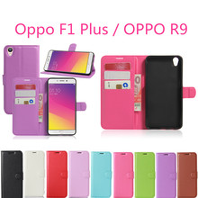 Oppo F1 Plus / OPPO R9 Case Wallet Style PU Leather Mobile Phone Fundas For OPPO R9 F1 Plus 5.5inch Coque with Card Holder(China)