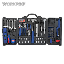 WORKPRO 201PC Mechanic Tool Set Daily Use Tools Sockets Screwdrivers Pliers Wrenches Measure tape Mini Saw Home Tool Kits(China)