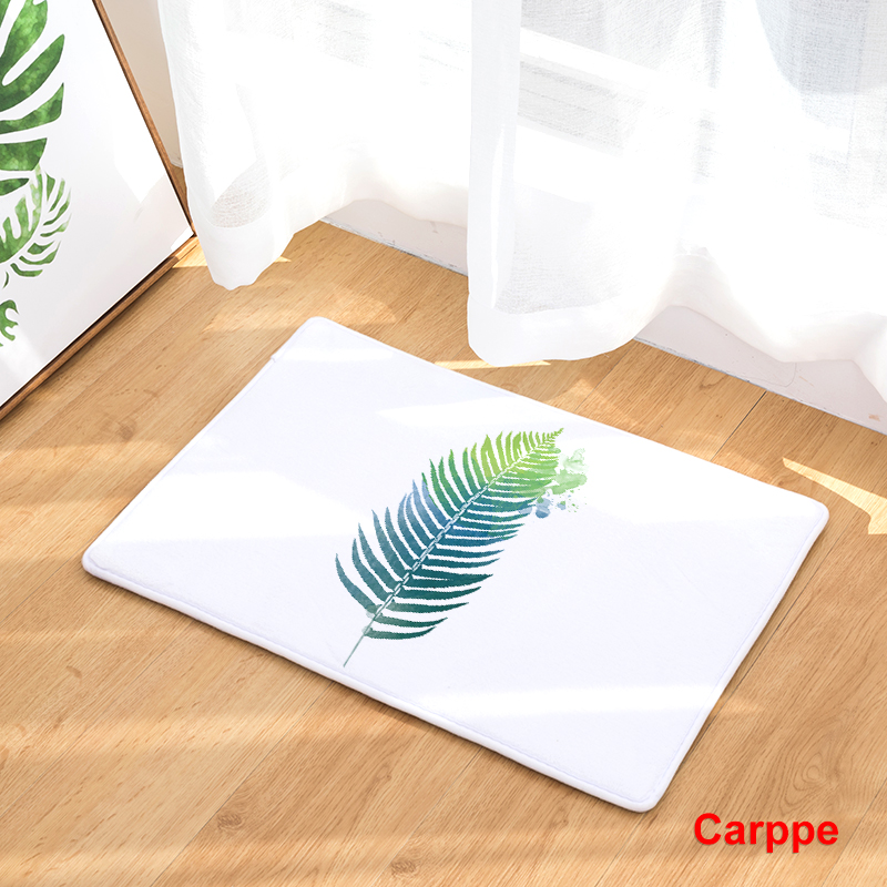 Flannel Floor Mats Nature Song Printed Bedroom Living Room Carpets ...