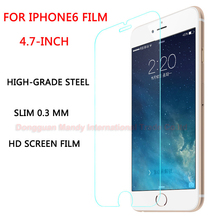 front screen protectiveglass  for iphone 6 Imported top material AGC Tempered Glass film 9H screen protector for iphone 6/6s