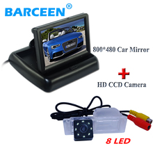 "car back up camera bring waterproof function+8 led with 4.3"" lcd  Foldable car screen monitor  for Chevrolet Cruze hatchback"