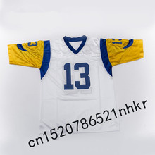 Retro star #13 Kurt Warner Embroidered Name&Number Throwback Football Jersey(China)