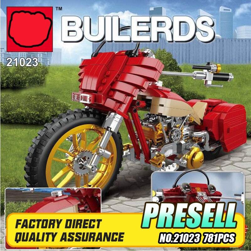 Lepin 21023 Genuine Creative Technic Series The Plating Harley Motorcycle Set Educational Building Blocks Bricks DIY Toys Model<br>