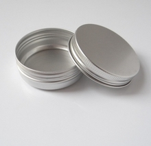 50pcs/lot Aluminum cream jars with screw lid aluminum tins aluminum balm container ,10g15g25g30g50g60g80g100g120g150g200g250g
