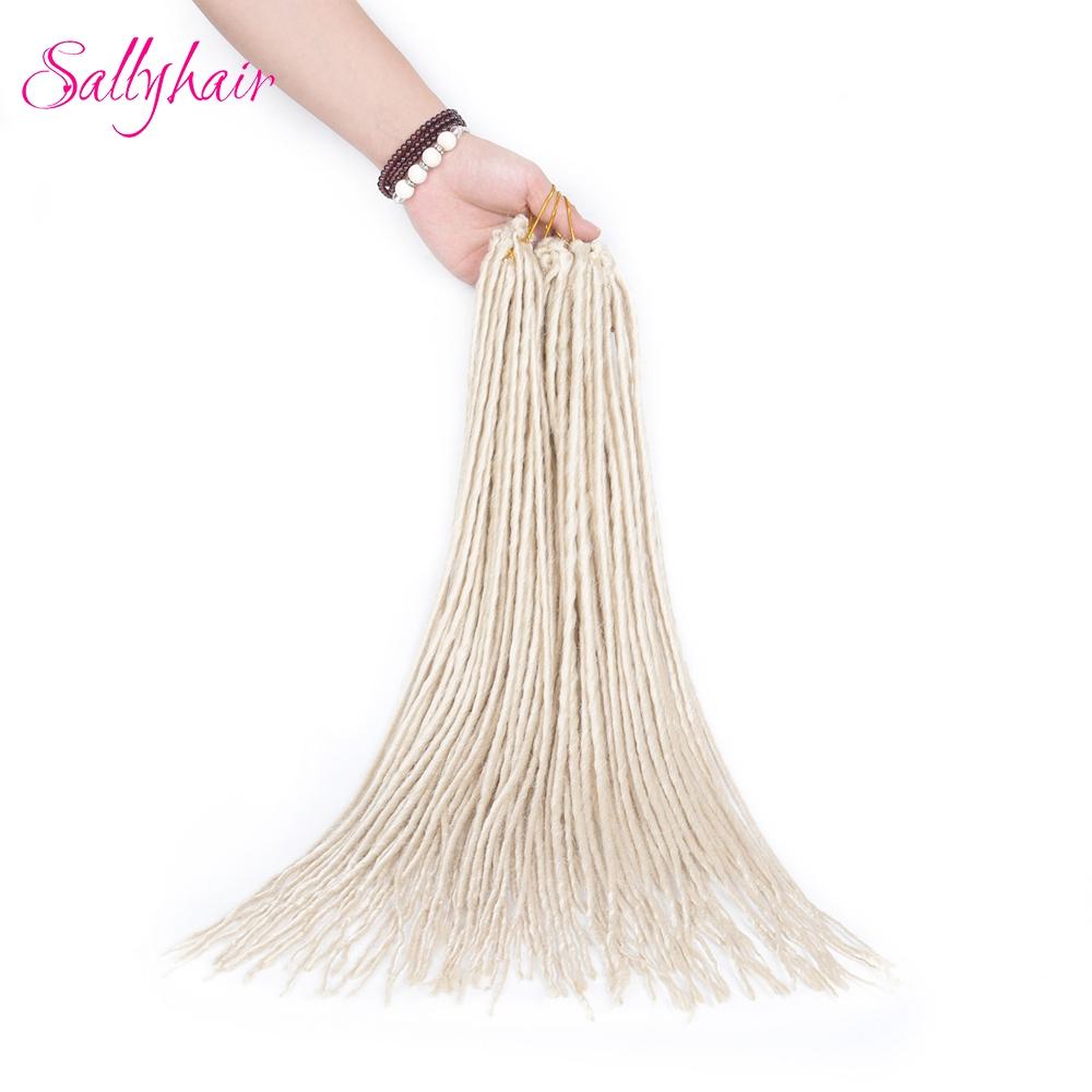 1 pack 24strands dreadlocks Crochet Braids Synthetic Hair Extensions Braiding Hair (5)