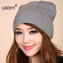 LHZSYY Ear Protection high quality Cashmere Hat Men and Women Autumn And Winter New Fashion Wool Knit Soft warm Solid color hat(China)