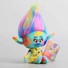 "NEW Arrival Movie Trolls Plush Toy Cute Colorful Harper Stuffed Dolls The Good Luck Trolls 11"" 28 CM(China)"