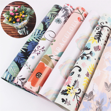 2018 New Arrival Flamingo Flowers Wrapping Paper Tropical Plants Flowers Bouquet Wrapping Paper Xmas Gift Packaging Materials(China)