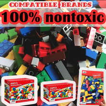 1000 PCS/set Modeling Bricks Blocks Kids Toys for Girls & Boys Assembling Science Building Block Clip Art Compatible Legoed Toy(China)