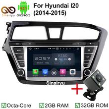 "2GB RAM 1024*600 Octa Core Android 6.0.1 Car DVD Player For 8"" HYUNDAI I20 2015 GPS Bluetooth Radio Stereo DVR 4G Map Navi(China)"