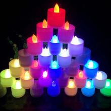 12 pcs/lot Smokeless Flameless Electronic LED Candle Light Flashing 1.5inch Halloween Candle Lamp for Weding Party Decor(China)