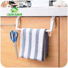 JiangChaoBo ABS Kitchen Tissue Holder Hanging Bathroom Toilet Roll Paper Holder Towel Rack Kitchen Cabinet Door Hook Holder