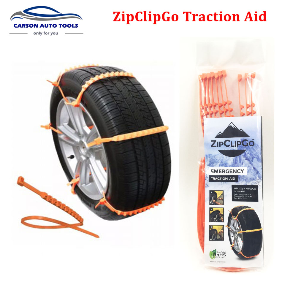 10pcs/set New Life Saver ZipClipGo Emergency Traction Aid Tire Snow Chains For Cars SUV's Trucks Anti Wheel Slip Chain(China (Mainland))