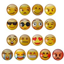Glass Dome Round Cute Smile Emoji Face Expressions Refrigerator Sticker Fridge Magnet Message Holder Christmas Accessories 3(China)