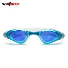 2017 New Style Swim Glasses For Women Men Anti Fog Waterproof UV Protection Adjustable Swiming Pool Adult Goggles Colored Frame