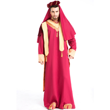 2017 New Fashion Fancy Male Clothes Halloween Masquerade Arab Man Costume Role Play Indian Father Cosplay Costume W159052