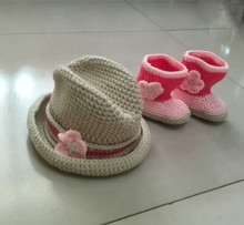baby hat and shoes cool west cowboy crochet newbern knit baby outfit photography prop