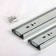 "2017 Kitchen Cabinet gliding sliding drawer slides Cupboard hardware 8"" 3-fold Full extension ball bearing drawer slides"