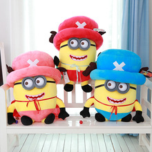 2016 1pcs 35-45cm Three Colors Cute New Despicable Me 2 Thief Daddy Little Yellow Man Plush Toy Doll Baby Gift Minions Cartoon