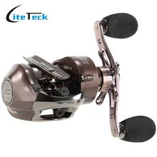New 12+1BB 6:3:1 Left/Right Handed Baitcasting Reel Aluminum Fishing Reel   Water Drop Saltwater Fishing Weel