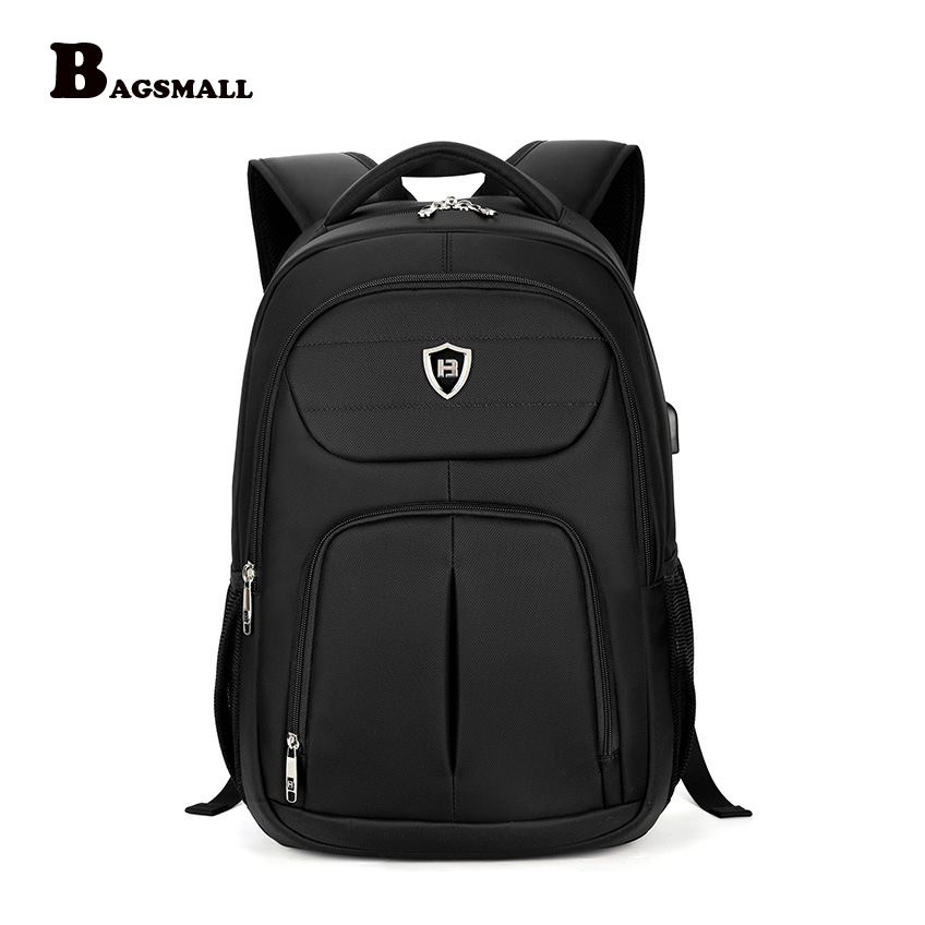 BAGSMALL External USB Charger 15.6 inch Laptop Backpack Business Men Computer Bag For Teenagers Male Waterproof Travel Backpack <br>