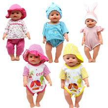 "1 Set Zapf Baby Born 18"" Doll Clothes Jump Suits Doll Accessories Fashion American Doll Dress Children Best Gift(China)"