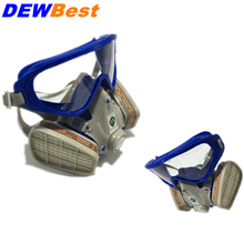 DEWBest SLJ518 Security & Protection Workplace Safety Supplies Chemical Respirator EU standards gas mask(China)
