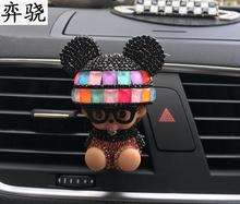 Lady exquisite Car styling Air conditioner decorative perfume clip Colorful doll car perfume seat car air freshener Perfumes(China)