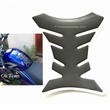 1pcs Carbon Fiber Tank Pad Tankpad Protector Sticker For Motorcycle Universal Fishbone Free Shipping(China)