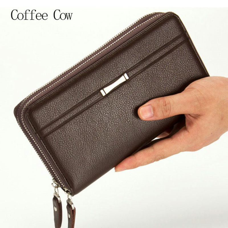2017 Large Capacity Business Men Zipper Clutch Wallets,Genuine Leather Multifunction Long Purse,Males Phone Wallet Handy Bag<br><br>Aliexpress