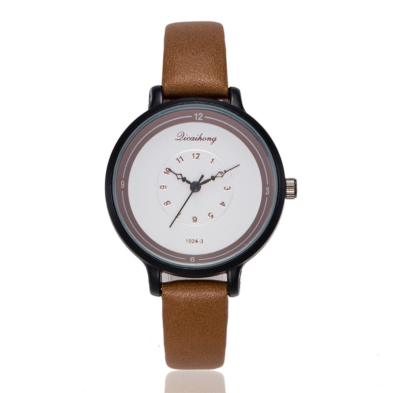 2018 High Quality women fashion casual watch luxury dress ladies Leather Band Analog Quartz Wrist Watch Clock relogio J13#N (9)