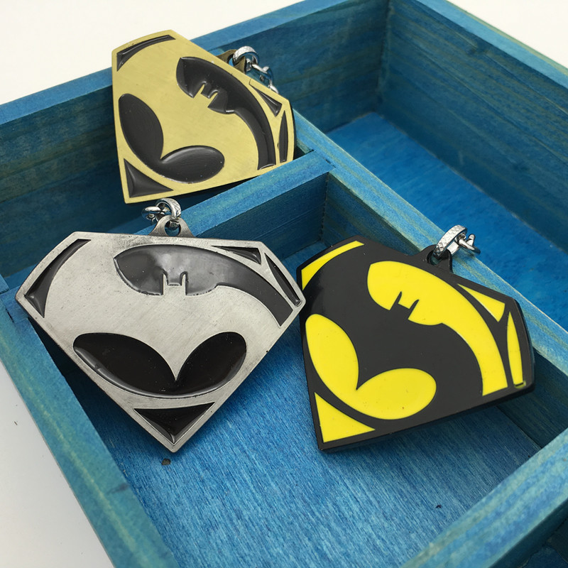 New Quality Super Hero Batman+SUP+Bracelet Bat Keychain Pendant Key Chain Gift