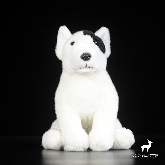 Plush Bull Terrier Doll Childrens Toy  Gifts Simulation Stuffed Animal Dog Toys Stores<br>