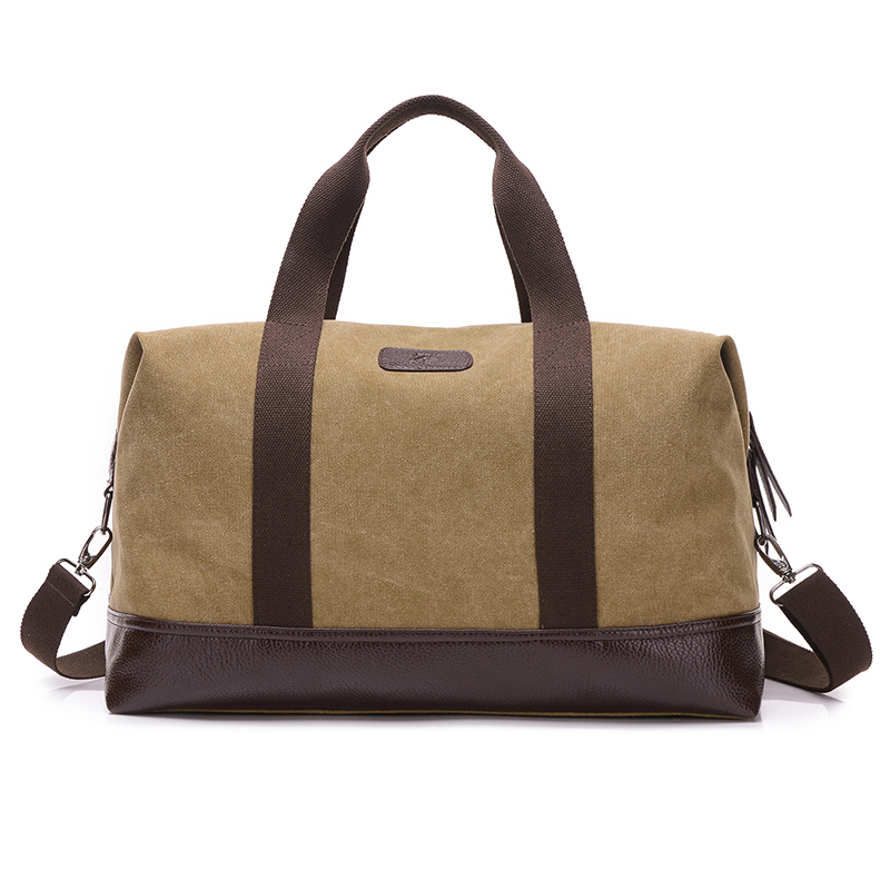 Brand high quality large capacity canvas handbag Contracted joker mens leisure and travel bag The cowboy style washed cloth bag<br>