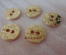 Wholesale 10 pieces New Multiple style High-grade Metal gold Jacket shirt buttons Sweater coat Overcoat button SZ 1.5cm 15mm(China)