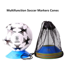 1 Set or 10 Space Markers Cones Soccer Football Equipment Training Dish of Football Logo Marker Plate  Random Delivery